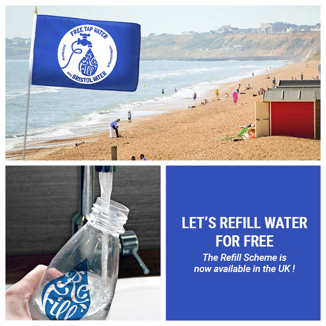 Let's refill water for free